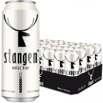 Упаковка пива Stangen Weiss Bier светлое нефильтрованное 4.9% 0.5 х 24 шт (4260556080093)