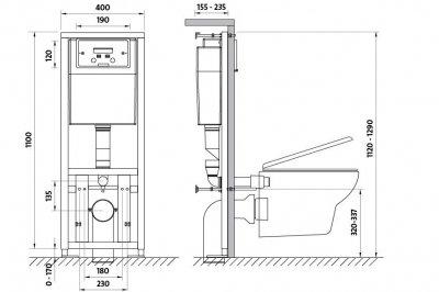 Система инсталляционная Cersanit Link Без кнопки (3829)