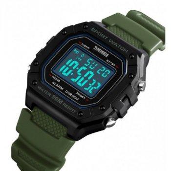 Часы мужские спортивные SKMEI 1496 водонепроницаемые + будильник Зеленый/Черный