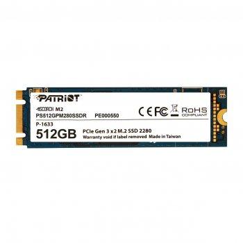 Накопичувач SSD 512GB Patriot Scorch M. 2 2280 PCIe 3.0 x2 3D TLC (PS512GPM280SSDR)