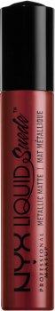 Жидкая помада для губ NYX Professional Makeup Lingerie Liquid Metallic Matte Lipstick 35 Biker Babe (800897103163)