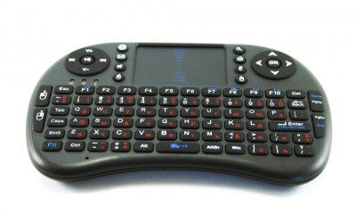 Беспроводная мини клавиатура Smart mini i8 2.4GHZ тачпад русско-английская раскладка (0972BS)
