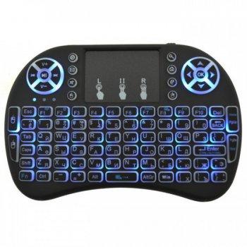 Безпровідна міні клавіатура Smart Control mini i8 тачпад російсько-англійська розкладка з підсвічуванням (6012BS)