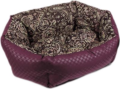 Лежак для собак і кішок Природа Кокос PR240877 64х50х22 см Бордовий (4823082408771)