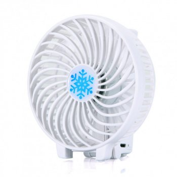 Ручний вентилятор акумуляторний міні з ручкою USB діаметр 10см Handy Mini Fan білий