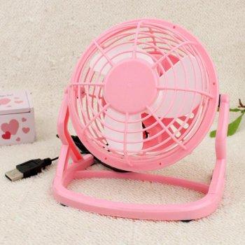 Настільний USB вентилятор Mini Fan Airflow CD-816 вентилятор для ноутбука 360° обертання портативний Рожевий