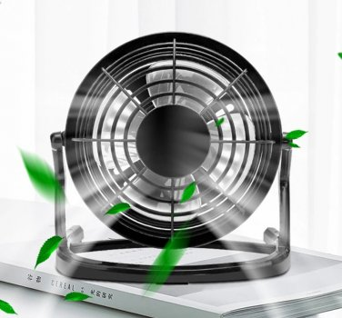 Настільний USB вентилятор Mini Fan Airflow CD-816 вентилятор для ноутбука 360° обертання портативний Чорний