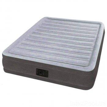 Надувная кровать Intex 67768, 137*191*33 см, встроенный электронасос, полутороспальная