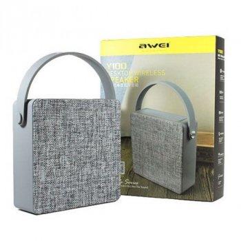 Портативна акустика Awei Y100 Bluetooth Speaker Grey
