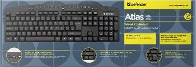 Клавиатура проводная Defender Atlas HB-450 USB (45450)