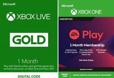 Підписка Xbox Live Gold + Ea Play (Ea Access) - 1 Місяць | Всі країни