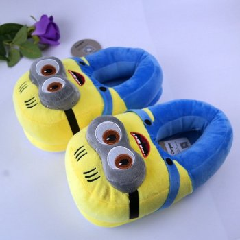"""Плюшевые тапочки игрушки Миньоны """"Minion"""" My kigu"""