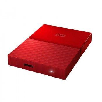 """Накопичувач зовнішній HDD 2.5"""" USB 4.0 TB WD My Passport Red (WDBYFT0040BRD-WESN)"""