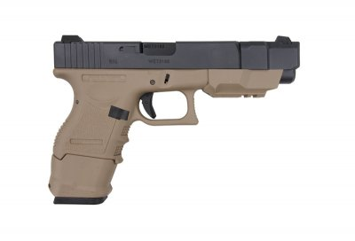 Пістолет WE Glock 26C Advance Gen.3 TAN GBB (Страйкбол 6мм)