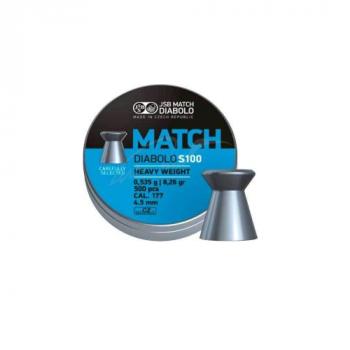 Пули пневм JSB Match HW, 4,5 мм , 0,535 г, 500 шт/уп