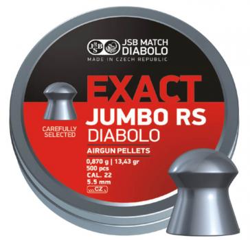 Пули пневм JSB Diablo Exact Jumbo RS 5,52 мм 0,870 гр. (500 шт/уп)