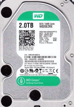 Жорсткий диск Western Digital Green 2TB 5400rpm 64МB 3.5 SATA III заводське відновлення (WD20EZRX-FR) - Refurbished