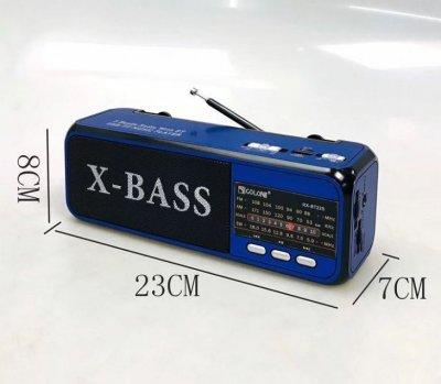 Радиоприемник Bluetooth Golon RX-BT22 с фонариком Синий