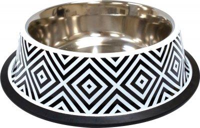 Миска металева для собак і кішок Croci Twiggy Diamond 21 см 700 мл (8023222228184)