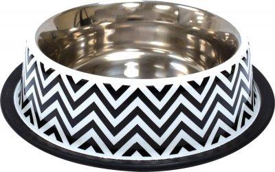 Миска металлическая для собак и кошек Croci Twiggy Stripes 19 см 470 мл (8023222228146)