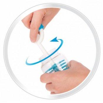 Силиконовый ершик с изогнутой ручкой для мытья бутылочек, Canpol babies, синий (12-20197)