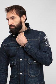 Чоловіча темно-синя джинсова куртка Replay PSG860.000.281 G74