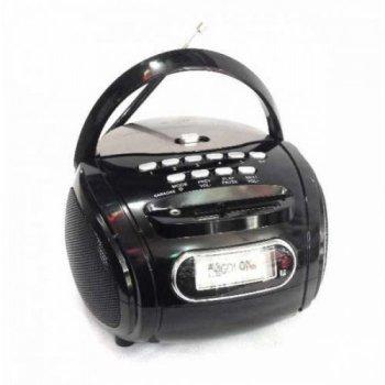 Портативна колонка бумбокс радіоприймач Golon RX 186 Black