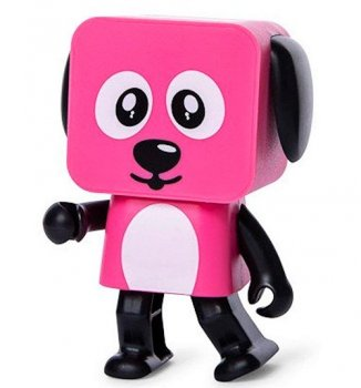 Колонка Dancing Dog Bluetooth Speaker Pink