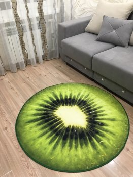 Килим 3D Ківі, діаметр 120 см Kiwi