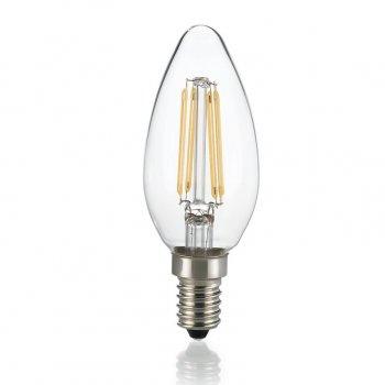 Світлодіодна лампа Ideal Lux Classic E14 4W Oliva Trasp 3000K Dimmer (188928)