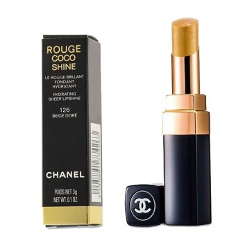 Увлажняющая помада для губ с блеском Chanel Rouge Coco Shine Hydrating Sheer Lipshine - #126 Beige 3g (3145891734263)