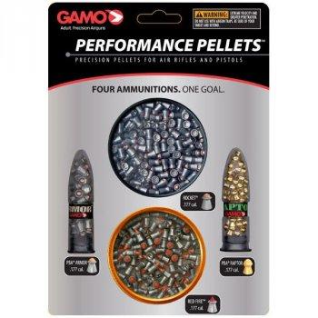 Набор пуль Gamo Perfomance Combo (Red Fire/PBA Raptor/Rocket/PBA Armor), 600 шт