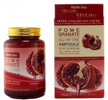 Многофункциональная ампульная сыворотка с экстрактом граната FarmStay Pomergranate All-In One Ampoule 250 мл (8809469772891)
