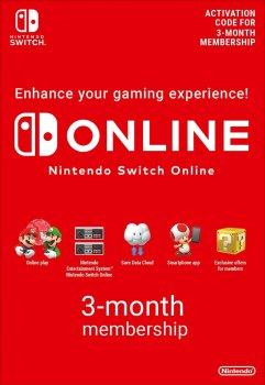 Nintendo Switch Online Gift Card 3 місяці EU- регіон