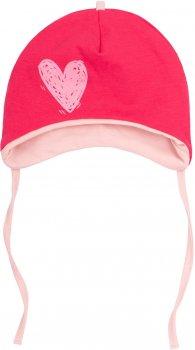 Демисезонная шапка с завязками Бемби SHP80 25080021019.730 46-47 см Малиновая с розовым (4823101639902)