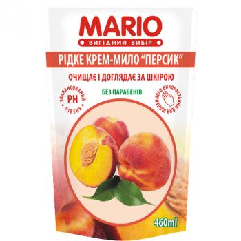 Жидкое крем-мыло MARIO 460мл (дой-пак) Персик