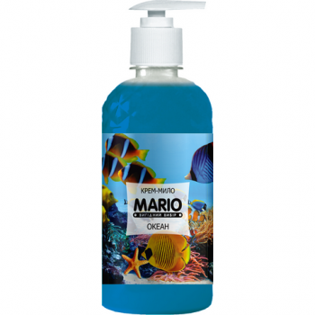 Жидкое крем-мыло MARIO 500мл (насос) Океан