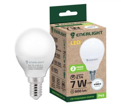 Світлодіодна лампа ENERLIGHT P45 7W 4100K E14