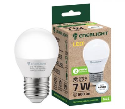 Світлодіодна лампа ENERLIGHT G45 7W 4100K E27
