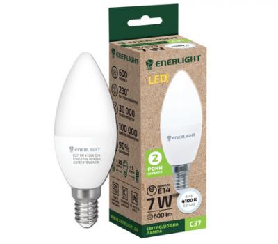Світлодіодна лампа ENERLIGHT C37 7W 4100K E14
