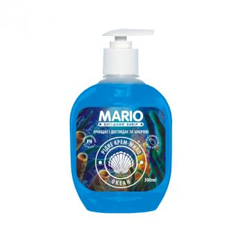 Жидкое крем-мыло MARIO 300мл (насос) Океан
