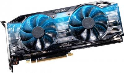 EVGA PCI-Ex GeForce RTX 2080 Ti Black Edition Gaming 11GB GDDR6 (352bit) (1545/14000) (USB Type-C, HDMI, 3 x DisplayPort) (11G-P4-2281-KR)