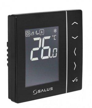 Суточный, электронный терморегулятор Salus, черный, скрытого монтажа, 230V (VS35B)