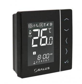 Беспроводной, цифровой регулятор температуры Salus 4в1, черный, на батарейках (VS20BRF)
