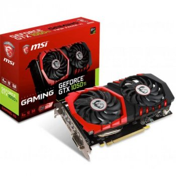 Відеокарта MSI GeForce GTX1050 Ti 4096Mb GAMING (GTX 1050 Ti GAMING 4G)
