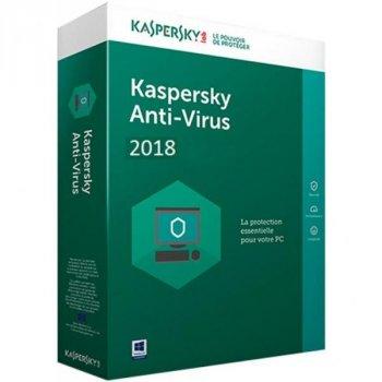 Антивірус Kaspersky Anti-Virus 2018 2 ПК 1 year Base Box (DVD-Box) (5060486858125)
