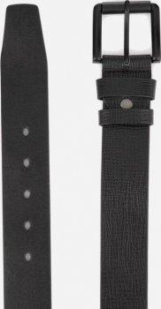 Мужской ремень кожаный Colmen R01-A75A 120 см Черный