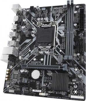 Материнська плата Gigabyte H310M A 2.0 (s1151, Intel H310, PCI-Ex16)