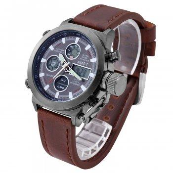 Мужские часы AMST AM3003 темно-коричневые (161)
