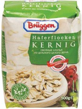 Упаковка вівсяних пластівців Bruggen Haferflocken Kernig з цільного зерна 500 г х 20 шт. (4008713762198)